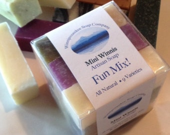 Handmade All Natural Soap 9 Mini Winnis Assorted Mix Cold Process