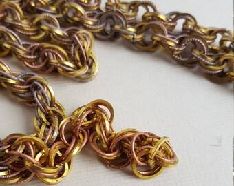 Vintage fancy multi link chain