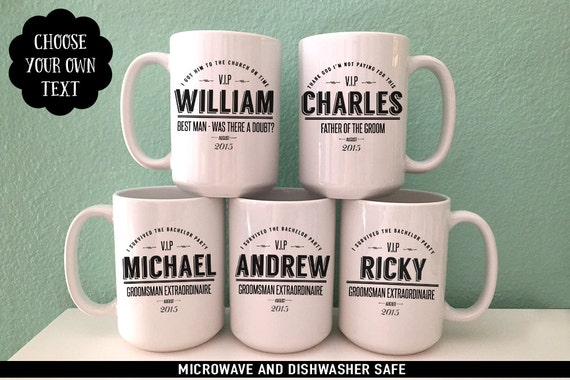 Groomsmen Gift Coffee Mug Set - Perfect Gift for Groom's Party - Personalized Coffee Mug