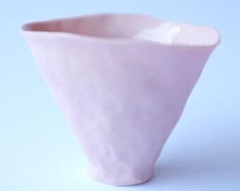 rose pink porcelain vessel no.1