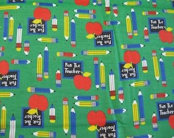For the Teacher School Print Corduroy Fabric - 1 1/2 Yd.
