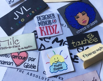 500 custom woven labels clothes main label side labels care labels