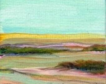 Landscape Original Miniature Acrylic Painting