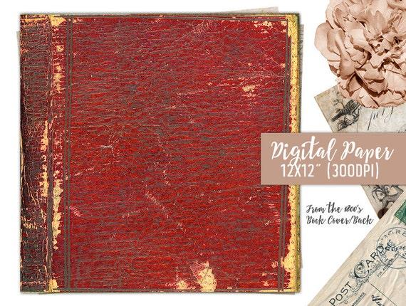 Antique Book Cover Paper ~ Old book cover digital paper scrapbook antique