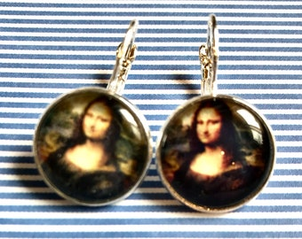 Mona Lisa cabochon earrings- 16mm