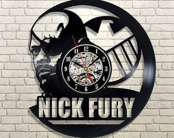 Marvel Comics Nick Fury Gift Vinyl Record Wall Clock