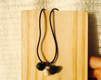 Green Bangle Necklace