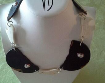 LAMBARENE Bones Ebony Silver Necklace