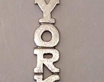 Vintage Sterling Silver York Charm for Pendant or bracelet