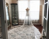 Royal length custom veil...