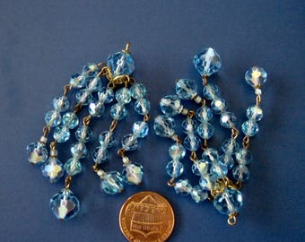 Crystal Bead Tassels with AB Coating (2)