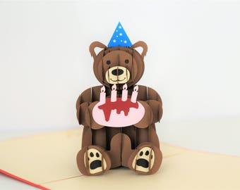 Large Happy Birthday Bear Card