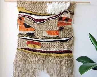 """Weaving and macrame wall hanging """"Autumn"""""""
