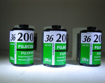 Fujicolor C 200 35mm Film (36 Exposure). 35mm film for color prints. EXPIRED 2012 3 Rolls