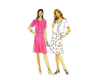 Misses Dress and Jacket Simplicity 8578 Sewing Pattern Size 6 - 8 - 10 - 12 - 14 - 16 UNCUT