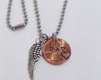 Dad Memorial Jewelry, Dad Memorial, Sympathy gift Father, In Memory of Dad, Memorial Gifts for Men, Memorial Gift Dad, Dad Memorial Necklace