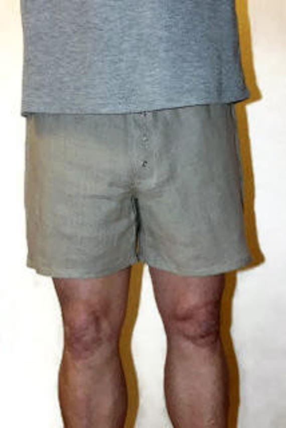 Men's linen pajamas.Snap button closure/Linen robe men. Flax linen shorts.Boxer shorts men.Men