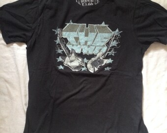 The Who Rock Band T-Shirt Navy Blue Medium Size