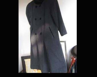 Vintage 80s wool coat jacket wool mohair oversize M