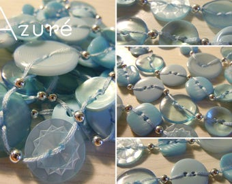 Azure - Long necklace made of buttons
