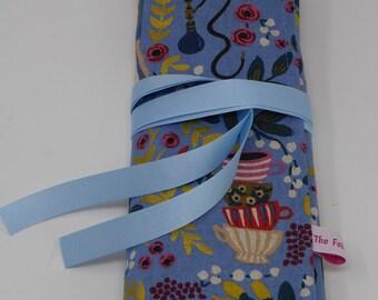 Knitting Needle Organiser, Knitting Needle Tidy, Crochet Hook Case, Knitting Needle Roll, Knitting Needle Case, DPN Roll, DPN Pouch in Linen