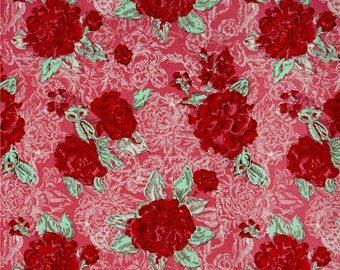Ivy Mae   Cotton Fabric Riley Blake Pink Main Floral     By the yard