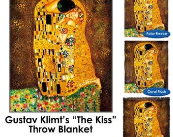 The Kiss Gustav Klimt Throw Blanket / Tapestry Wall Hanging - Standard Multi-color
