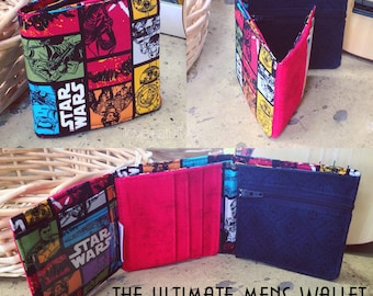 The Ultimate Mens Wallet PDF Pattern - Tri-fold Wallet Pattern by Love+stuff