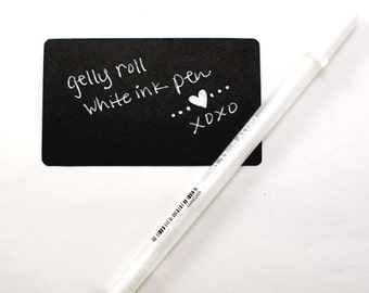 Sakura Gelly Roll White Pen | Smooth fine point white ink pen | archival & waterproof - great for black paper, scrapbooking, journaling