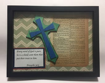 Antique bible page with Proverbs 30:5
