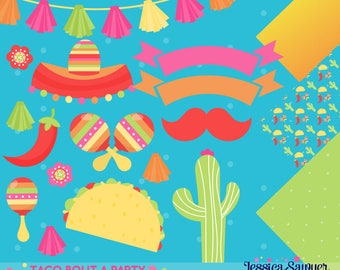 INSTANT DOWNLOAD, fiesta clipart and cinco de mayo vectors for personal and commercial use