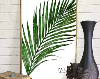 Palm Leaf Watercolor Print