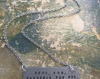 The Hazel Necklace - Hand Stamped Name Plate Necklace