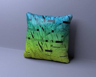 GREEN Pillows, BLUE Pillows, Pillow Cover, Decorative Pillow, Green Throw Pillow, Green Cushion. Accent Pillows, All Sizes, Euro Sham, Navy