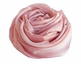 Pink scarf, pink silk scarf, blush scarf, blush silk, pink wedding scarf, blush silk wrap, mothers day, blush wedding, womens scarves, silk
