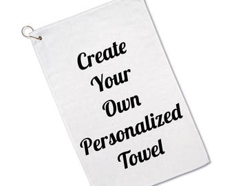 Custom Personalized Golf Towel - Golf Gifts - Gifts for Dad - Husband Gifts - Boyfriend Gifts - Golf Lover - Towel - Personalized Towel