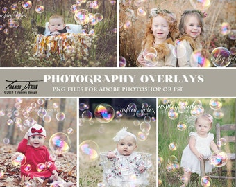 Bubble Photo Overlays, Bubble Photography Overlays, INSTANT DOWNLOAD