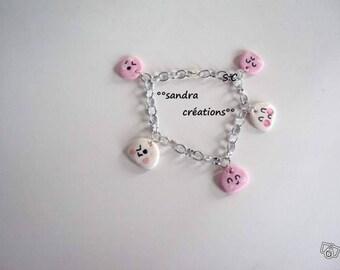 charm bracelet little kawaii clouds