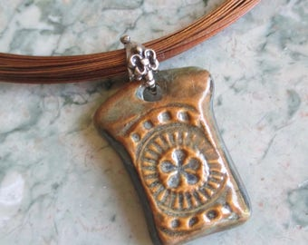 Autumn Splendor Pendant Necklace on Multistrand Necklace