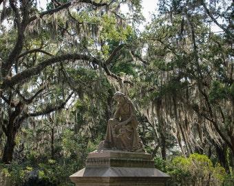 Savannah Georgia Bonaventure Cemetery, Lady Waiting, Southern Gothic Art, Travel Photography, Savannah Art, Affordable Home Decor
