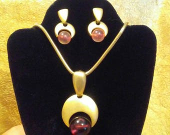 Modernist Necklace and Earrings