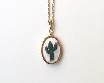Suagaro Cactus Pendant Necklace