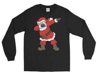 Dabbing Santa Claus Long Sleeve T-Shirt  - Hip Hop Christmas Dance Tee