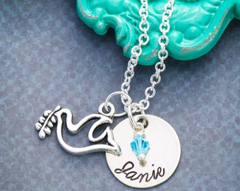 Dove Necklace • Personalized Bird Necklace • Dove Gift Peace • Baptism Gift Christening Present • Confirmation Necklace Baptism Present