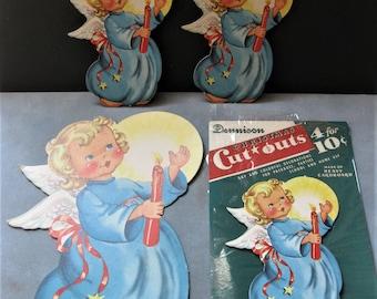 Vintage Dennison Angels, Set of Four