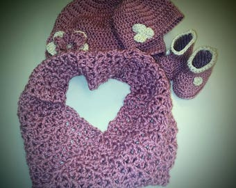 Mommy and Me - crocheted winter set