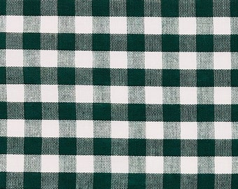 "1/4"" Gingham - Dark Emerald Green - Cotton fabric - 44""x44"" REMNANT"