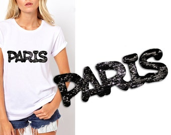 Heat Transfer Paris Patch Applique for Sewing,Crafts, Embellishments