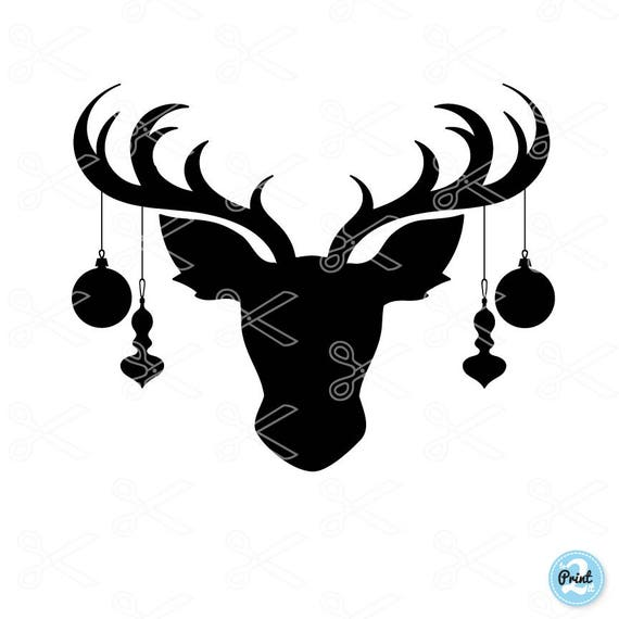 Reindeer Face SVG PNG DXF Eps Cutting Files