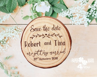 Magnet Save the Date_ Highly customizable-Wood Pattern Not real Wood_Personalized Color By Request_No Bump Envelope